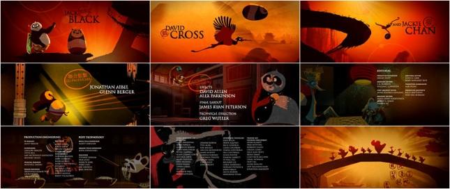 Phần ending credits trong Kung Fu Panda